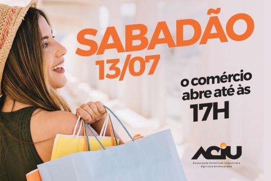 Lojas do comércio ficam abertas sábado das 9h às 17h