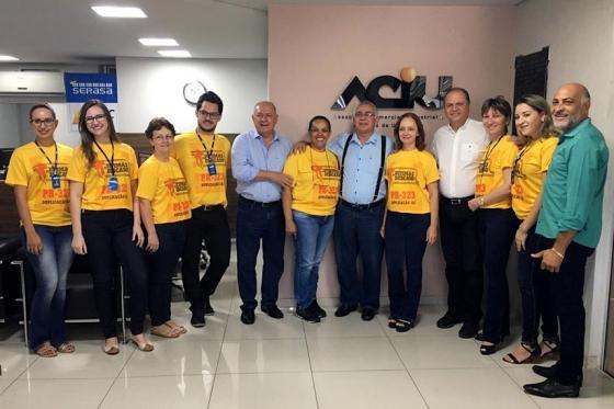 Ricardo Barros e Schiavinato, do PP, visitam a Associação Comercial